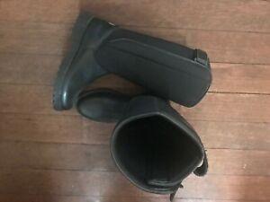 bottes boots rare moto biker noir mixte cuir et tissus comme neuves taille 40