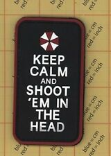 PVC KEEP CALM and SHOOT 'EM  IN THE HEAD Morale Patch Star wars Movie Luke Yoda