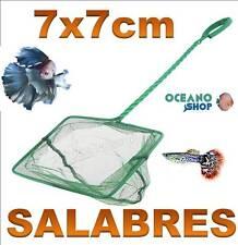 SALABRE 7x7CM ACUARIO de malla RED Verde pecera peces mango tortuguera pez