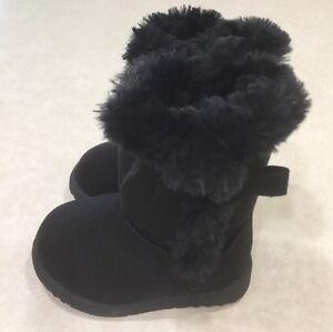 """KIDS KORNER """"Amelia"""" Toddler Girl's Black Boots~~Size 6"""