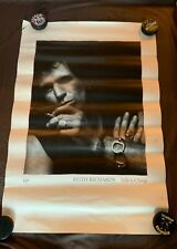 "Keith Richards - Talk Is Cheap Promotional Poster - Virgin Records - 36"" x 24"""