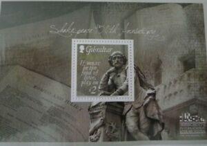 GIBRALTAR 2014 SHAKESPEARE SOUVENIR SHEET MNH SCOTT 1462 CAT $ 6.75