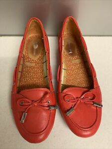 Sz 42 Sz 10-11 ROCKPORT Red Leather Moccasins Flats Slip On Comfort Shoes
