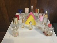 Lot of 15 Vintage Perfume Bottles All Empty Liz Claiborne More