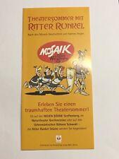 Flyer Mosaik Digedags Theatersommer mit Ritter Runkel Senftenberg 2005