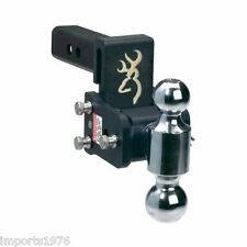 "B&W Tow & Stow Browning Edition Trailer Hitch Dual Ball Mount 3"" Drop TS10033BB"