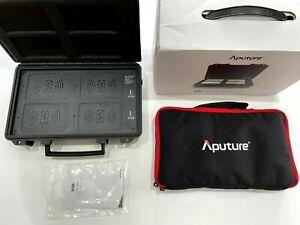 Aputure AL-MC 4-Light Travel Kit CASE ONLY, UK fits MC4 RGBWW LED Light wireless