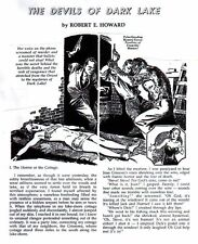 THE DEVILS OF DARK LAKE by Robert E. Howard - horror story - 1998 REHUPA fanzine