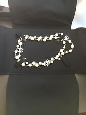 Chanel Classic Crystal CC Pearl Necklace