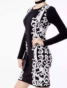INC International Concepts Petite Floral Sweater Dress Deep Black PXS  /_ R6D4