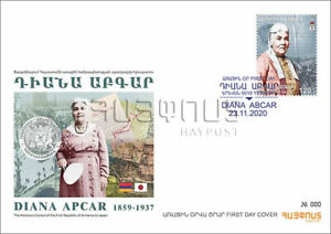 NEW 2020 Honorary Consul of First Republic of Armenia to Japan Diana Apcar FDC