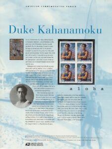 #662 37c Duke Kahanamoku #3660 USPS Commemorative Stamp Panel