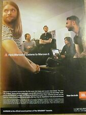Maroon 5, Harman Sound, Full Page Promotional Ad