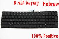 For HP Pavilion 15-au 15-bk 15-ar m6-ar Keyboard Hebrew US Israel Backlit מקלדת