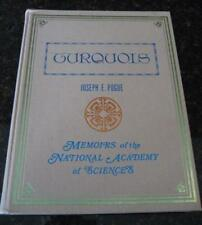 Turquois, Memoirs of National Academy Sciences Joseph E. Pogue Lapidary Minerals