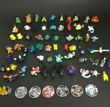 Pokemon TCG Mini Figures + Cogs Coins + Pin Toys Large Lot of 70