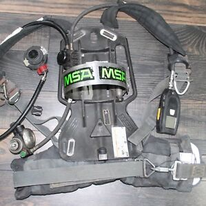 MSA Frame Harness 4500psi SCBA Air Pack Bottle Cylinder Tank Breathing Apparatus