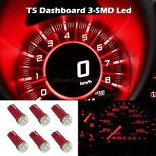 6x Red T5 Wedge 3-SMD Speedometer Gauge Cluster LED Light Bulb 37 73 74 2721