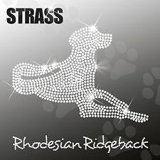Rhodesian Ridgeback strass applicazione foto FERRO STIRO hotfix ca.20x18, 5cm