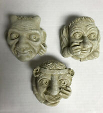 Set 3 Design Toscano Mini Oxford Masks Gargoyle Grotesque Chimera Greenman