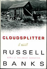 Cloudsplitter by Russell Banks-First Edition/DJ-1998
