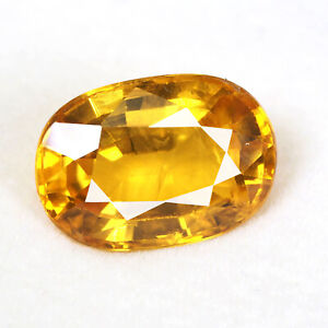 5.65 Cts Natural Sri Lankan Sapphire Golden Yellow Lusturous Finest Quality Gem