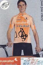 CYCLISME repro PHOTO cycliste JUAN JOSE OROZ équipe EUSKALTEL  signée