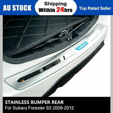 Stainless Bumper Rear Step Panel Boot Protector For Subaru Forester S3 08-12