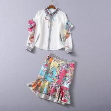 Christmas wholesale runway Lapel neck Long sleeves Button Print Zipper Suits