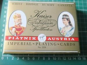 Piatnik Playing Cards Twin Set Imperial Austro-Hungary Theme 1898 Style