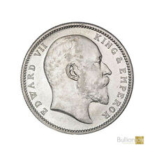 More details for 1903 king edward vii india one rupee silver coin - collectors coin