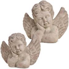 Engel mit Stern 13,5cm Figur Schutzengel  Statue Skulptur kniend 203