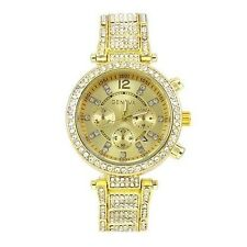 Gold Geneva Acrylic Crystal Band Women Watch Designer Fashion Ladies