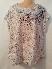 Postal Stamp For Anthropologie Pullover Top Size Medium