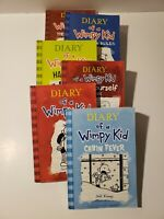 Diary Of A Wimpy Kid By Jeff Kinney, Lot Of 6 PB Books
