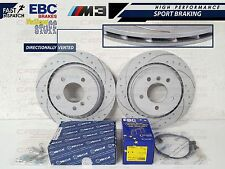 BMW E36 M3 EVO REAR DIMPLED GROOVED BRAKE DISC DISCS EBC YELLOW PADS SHOES KIT