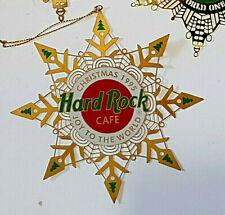 HRC XMAS TREE JOY TO THE WORLD HANGING GOLD DECORATION 95 Hard Rock Cafe NOT PIN