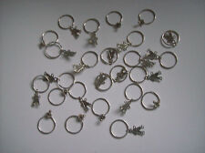 25 BABY SHOWER KEY RINGS WITH SILVER TONE CHILD & PACIFIER CHARMS
