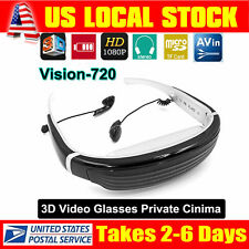 "8GB 68"" Virtual Screen 3D Stereo Video Glasses  Eyewear for PSP PS3 360-BOX TV"