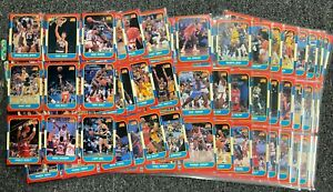 1986 Fleer Basketball Near Complete Set 131/132 - Missing Jordan RC & Stickers