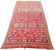 "Handmade Kilim Rug 8' x 4'5"" Moroccan kilim rug Beni Ourain rug vintage rug"