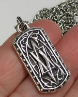 SCOTT KAY ARTISTE Sterling Silver Star of David Long Chain 19.9 Gram Necklace