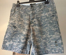 "No Fear ~ camo all cotton summer casual shorts zip fly ~ 35"" W x 8"" L"