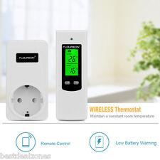 DE Steckdosenthermostat Regler Wireless Thermostat Stecker RF Thermoschalter NEU