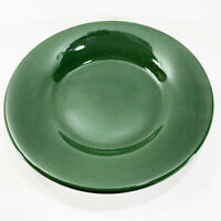 "POTTERY BARN SAUSALITO DARK GREEN 12 3/8"" DINNER PLATE CHARGER LAY PLATE EUC"