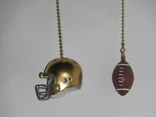 NOTRE DAME FIGHTING IRISH HELMET & FOOTBALL CEILING FAN PULL CHAINS GOLD CHAINS