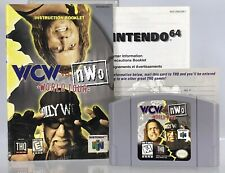 Nintendo 64 N64 WCW Vs nWo World Tour THQ Wrestling Game Instruction Manual WWF