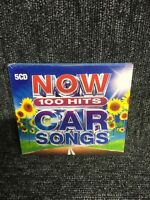 Now 100 Hits Car Songs (CD, 2019, 5-Discs, Various Artists) (CD)  New & Sealed