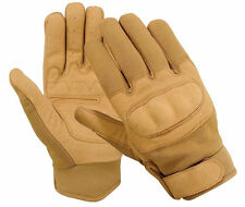 MILITARY POLICE AIRSOFT TACTICAL HARD KNUCKLE SHOOTING DUTY GLOVES KHAKI TAN