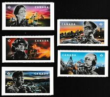 Canada Emergency Responders permanent set (5 stamps from booklet 10) MNH 2018